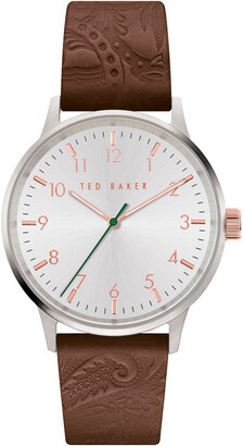 Ted Baker Cosmop Leather Strap Watch, 40mm