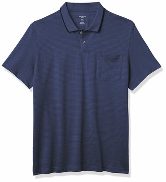 Van Heusen Men's Flex Short Sleeve Stretch Stripe Polo Shirt