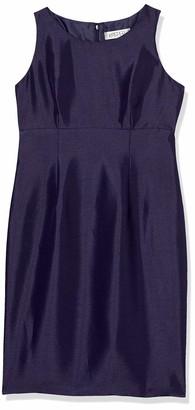 Kasper Women's Sleeveless Jewel Neck Shinny Sheath Dress