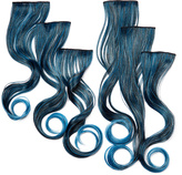 Hairdo. by Jessica Simpson & Ken Paves Stormy Blue Wavy Hair Extension Set