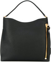 Tom Ford zip detail tote - women - Cotton/Calf Leather/Polyester - One Size