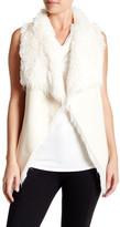 Angie Faux Fur Lined Drape Vest