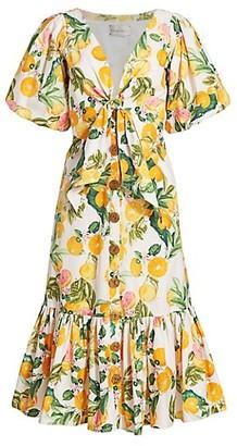 Cara Cara Georgica Puff-Sleeve Dress