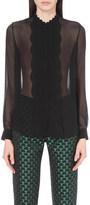 Mary Katrantzou Semi-sheer silk-chiffon shirt