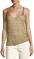 Ralph Lauren Metallic Crocheted Cami Top, Gold