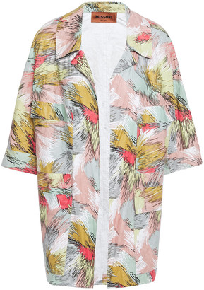 Missoni Printed Crinkled Coated-voile Jacket