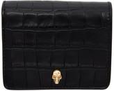 Alexander McQueen Black Croc Skull Bifold Wallet