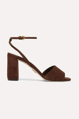 Prada 85 Suede Sandals - Brown