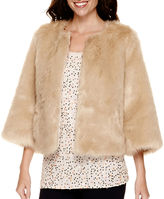 STYLUS Stylus 3/4-Sleeve Faux-Fur Jacket - Tall