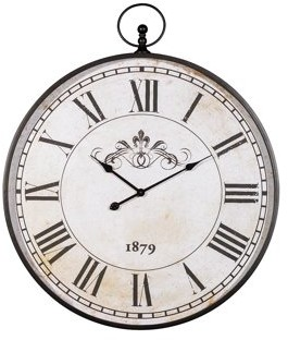 Signature Design by Ashley Augustina Antique Black Wall Clock