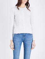 The White Company Sequin-embellished wool jumper