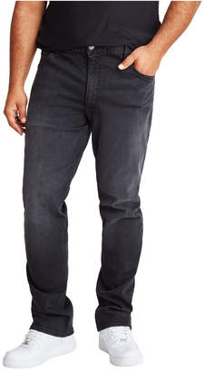 Mvp Collections Men Big & Tall Black Vintage Wash Straight Fit Jeans