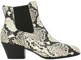 Hogan Chelsea Boots H314 + Texan Heel In Python Print Leather
