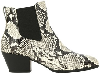 Hogan Chelsea Boots H314 + Texan Heel In Python Print Leather
