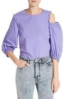 Tibi Women's Cotton Poplin Asymmetrical Top