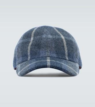 Loro Piana Checked printed hat