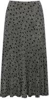 M&Co Spot print mid length jersey skirt