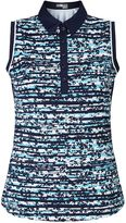 Callaway Floral Stripe Sleeveless Polo