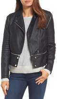 Halogen Convertible Faux Leather Moto Jacket (Regular & Petite)