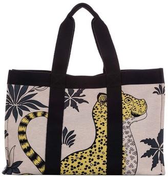 Hermes Pre-Owned Leopard Print Tote Bag