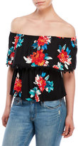 Necessary Objects Floral Off-The-Shoulder Blouse