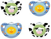NUK 0-6 Months 4-pk. Cute as a Button Farm Animals Orthodontic Pacifiers