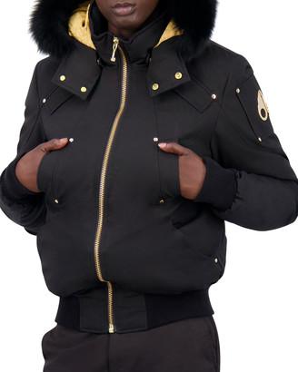 Moose Knuckles Men's Little Rapids Bomber Jacket w/ Fur Collar
