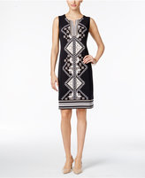 JM Collection Studded Shift Dress, Only at Macy's