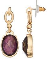 Dana Buchman Purple Oval Link Nickel Free Drop Earrings