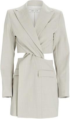 ANNA QUAN Chiara Twist Cut-Out Blazer Dress