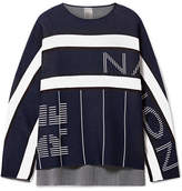 P.E Nation Reserve Oversized Jacquard-knit Sweatshirt