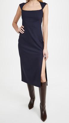 Susana Monaco Square Neck Slit Dress