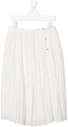 Chloé Kids Metallic-Thread Pleated Skirt