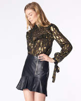 Veronica Beard Kaye Leather Skirt