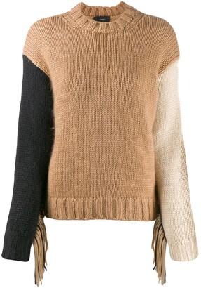 Alanui Fringed wool-knit sweater