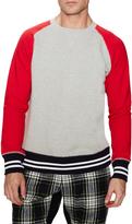 Mark McNairy Men's Freedon Sleeve Crewneck Sweatshirt