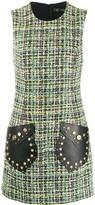 Versace Medusa tweed sleeveless mini dress