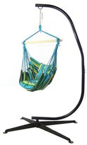 SunnyDaze Decor Cotton and Polyester Chair Hammock with Stand