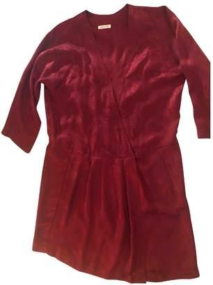 Masscob \N Burgundy Silk Dress for Women