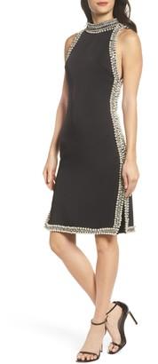 Mac Duggal Embellished Trim Sheath Dress