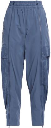 adidas by Stella McCartney + Adidas Cropped Jacquard-paneled Zip-detailed Shell Track Pants