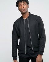 Jack and Jones Wool Zipped Bomber