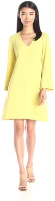 Taylor Dresses Women's Square Neck Stretch A-Line Bell Sleeve Dress