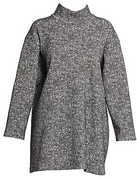 Alaia Women's Spider Wool-Blend Knit Long-Sleeve Tunic