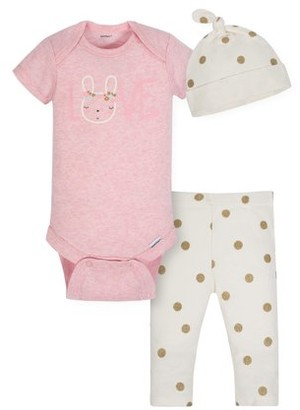 Gerber Baby Girls Organic Outfit Take Me Home, 3-Piece