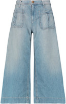 Current/Elliott The Culotte cropped mid-rise wide-leg jeans