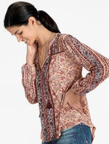 Lucky Brand Vintage Mixed Print Top