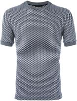 Giorgio Armani two-tone jacquard T-shirt