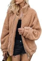 BerryGo Women's Faux lambswool Fluffy Teddy Bear Coat Outwear ,M