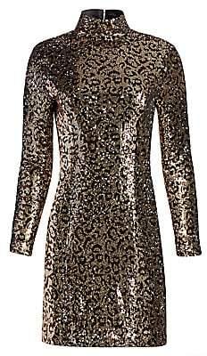 Milly Women's Leopard Sequin Bodycon Mini Dress